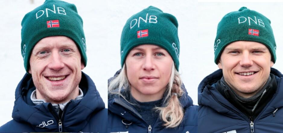 NORSKE PROFILER: Johannes Thingnes Bø, Tiril Eckhoff og Vetle Sjåstad Christiansen stoler på konkurrentene i VM - men flere skiskyttere frykter at det kan komme nye avsløringer i det kommende mesterskapet. Foto: NTB Scanpix