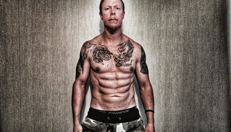 SLIK FIKK HAN MUSKLENE: Paul Nilsson har gått ned fra 98 til 86 kilo, og gått fra 20 til seks prosent underhudsfett, ifølge ham selv. Han sier han trener omtrent like mye som før. Foto: Privat