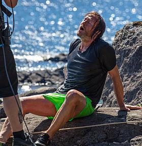 TUNGT: Det er ikke vanskelig å se at Svein ga alt han hadde, dessverre holdt det ikke. Foto: Alex Iversen / TV 2