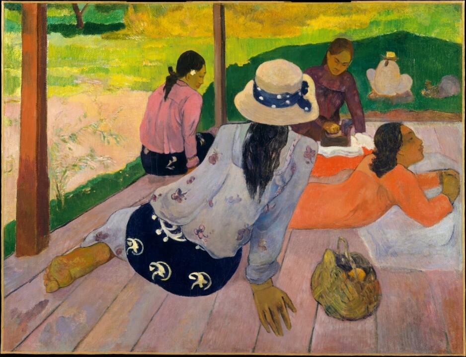 THE SIESTA: Maleren Paul Gauguin ble besatt av Tahiti. Den britiske forfatteren, Geoff Dyer, dro ned for å sjekke tilstanden på de mange øyene godt over 100 år seinere. Foto: NTB Scanpix.