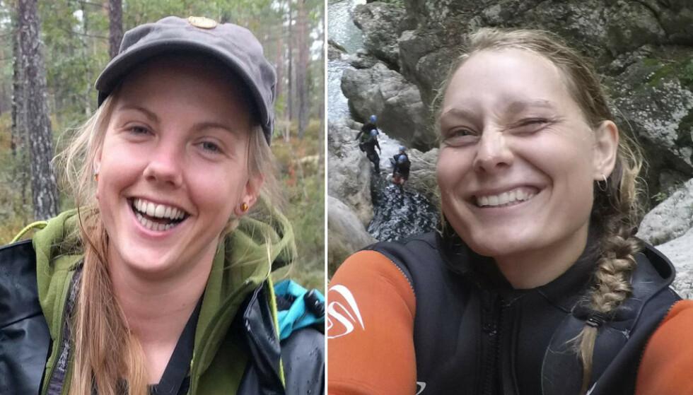 SIKTET: Flere personer er siktet for å ha delt video av det brutale dobbeltdrapet på Maren Ueland (t.v.) og Louisa Vesterager Jespersen. FOTO: Privat