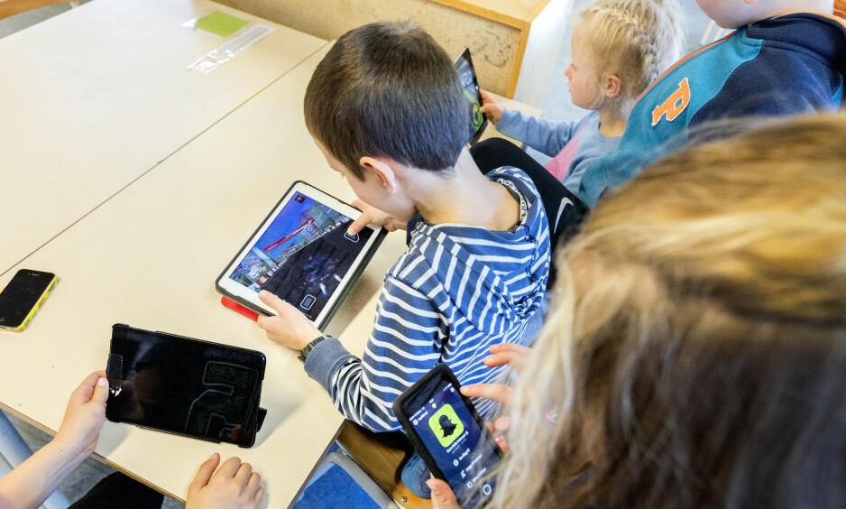 VIL STRAMME INN: Mathilde Tybring-Gjedde håper på strammere regelverk om mobilbruk i skolen. Foto: Gorm Kallestad / NTB scanpix