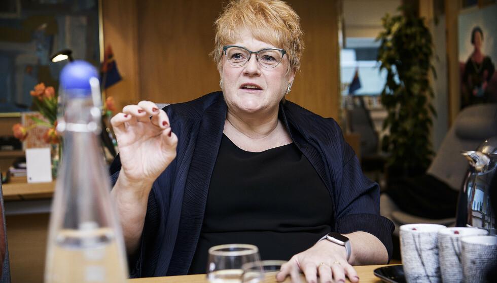 VIL HA PROVOKASJONER: - Vi trenger flere og andre stemmer i Kultur-Norge. Vi trenger mer, ikke mindre kunst som provoserer, sier kulturminister Trine Skei Grande. Foto: Lars Eivind Bones / Dagbladet