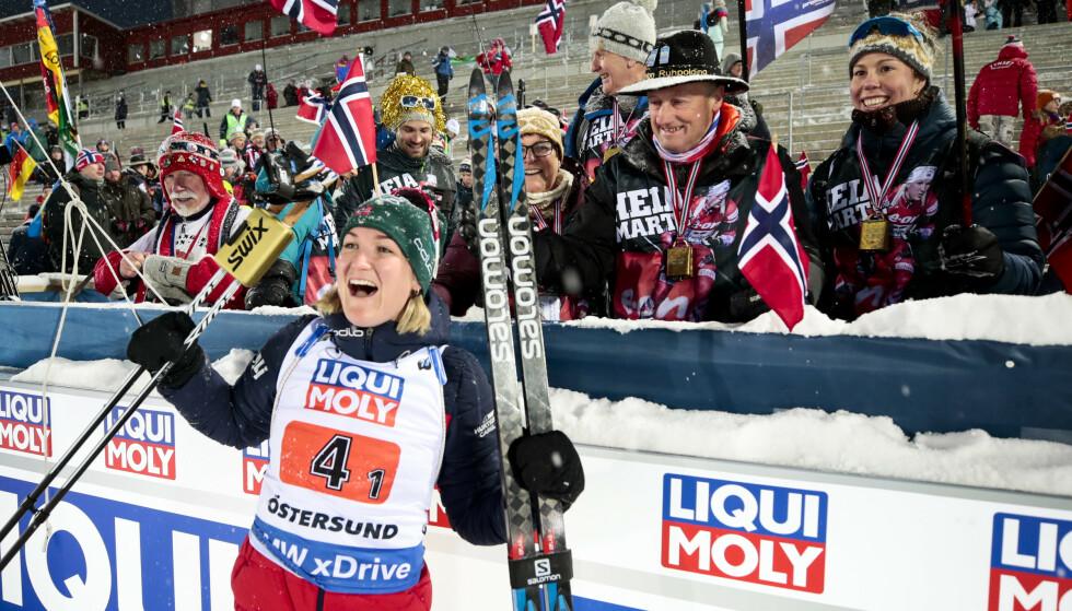 SPRINT-KLAR: Marte Olsbu Røiseland går for medalje på dagens sprint i VM. Foto: Lise Åserud / NTB scanpix