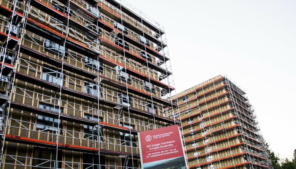 UBRUKT: I 2017 var det bygging av nye studentboliger på Kringsjå i Oslo, men forskningsminister Iselin Nybø (V) spør seg nå om behovet er dekket. Foto: Jon Olav Nesvold / NTB scanpix