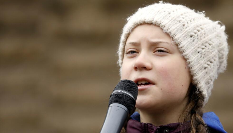 ÅRETS KVINNE: Klimaaktivisten Greta Thunberg (16) er kåret til årets kvinne i Sverige. Foto: Reuters/Morris Mac Matzen