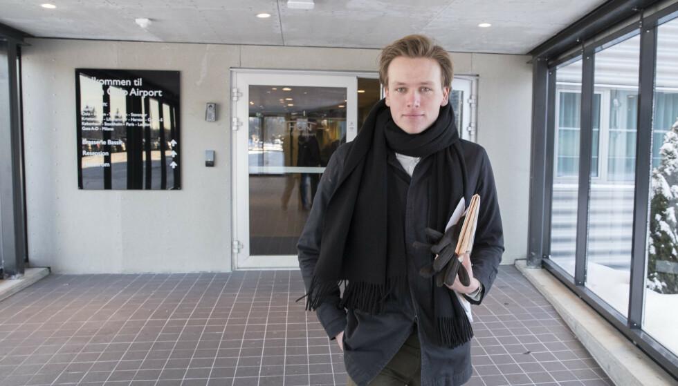 VIL SETTE HARDT MOT HARDT: Unge Venstres leder Sondre Hansmark mener partiledelsen må sette tydelige krav til Frp. Foto: Vidar Ruud / NTB scanpix