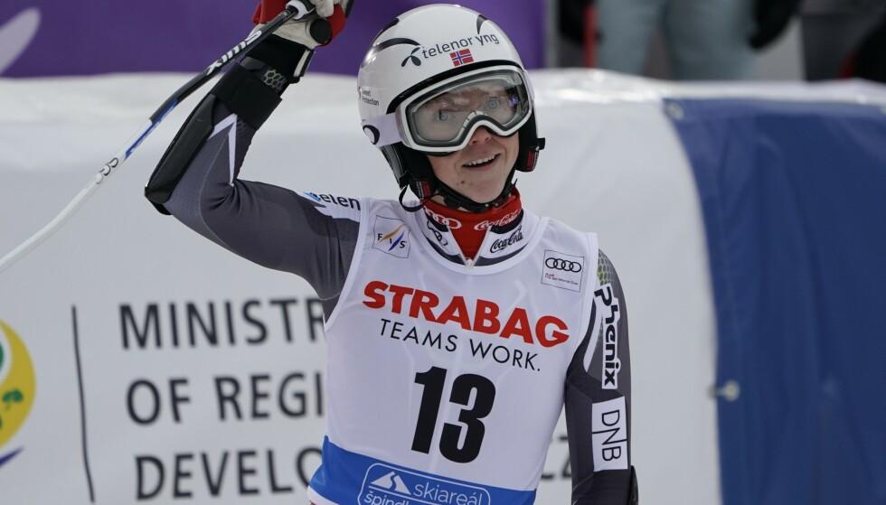 JUBEL: Kristin Lysdahl gjorde sitt beste renn i karrieren. Foto: NTb scanpix