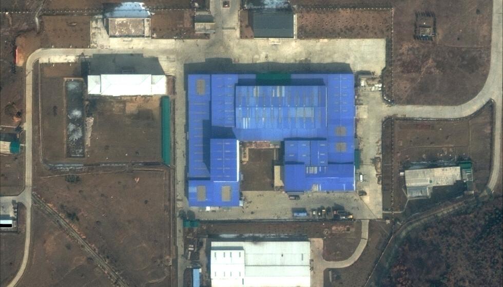 AKTIVITET: Dette satellittbilde, tatt den 22. februar, tyder på ny aktivitet ved rakettbasen Sanumdong i Nord-Korea, hvor det blant annet har blitt utviklet ballistiske missiler. Foto: AP