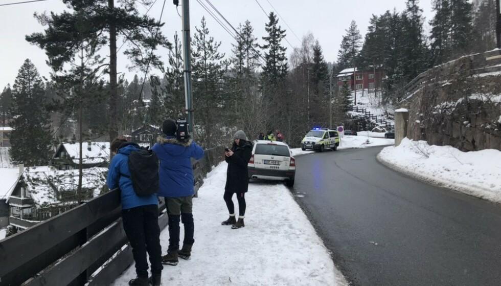 BRATT: Det er ifølge politiet svært bratt der mannen falt. Foto: Eiliv Frich Flydal