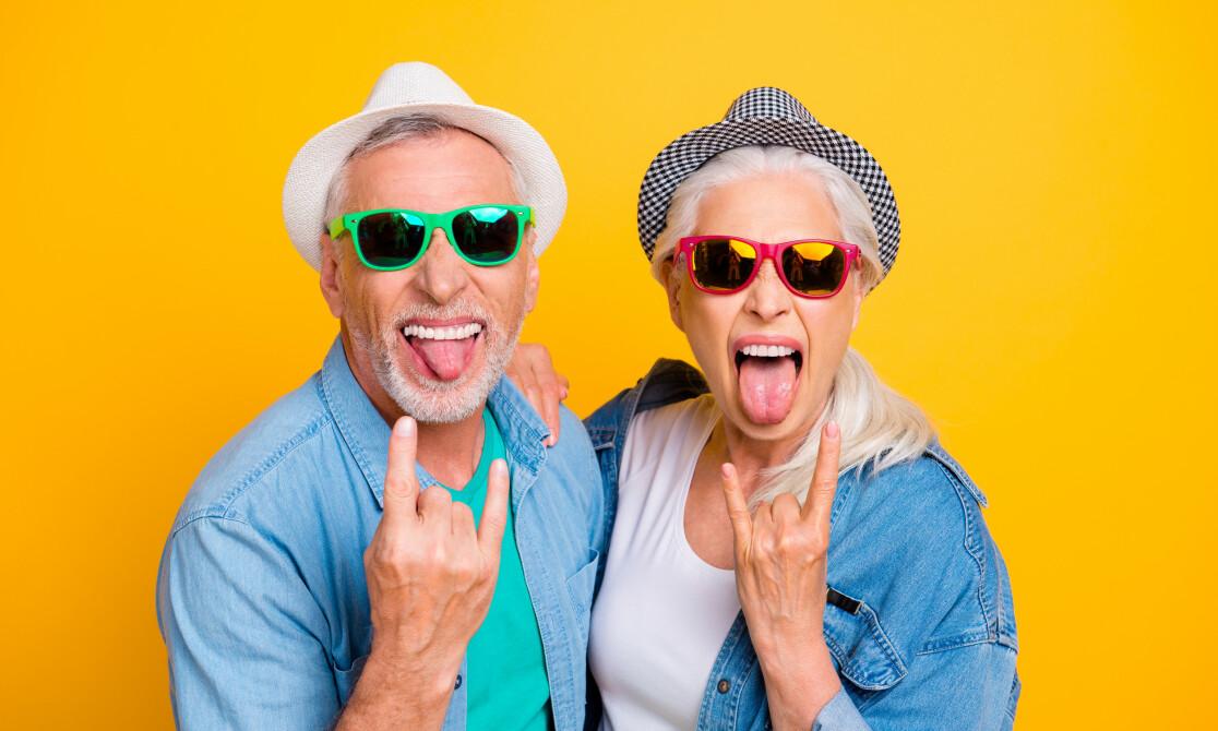 UNG TIL SINNS: Den fysiske alderen kan være hva den vil, men det er hvor gammel du føler deg som betyr noe. For som man sier: Man føler seg aldri så voksen som når man er 18, aldri så ung som når man er 75. Foto: Shutterstock / NTB Scanpix