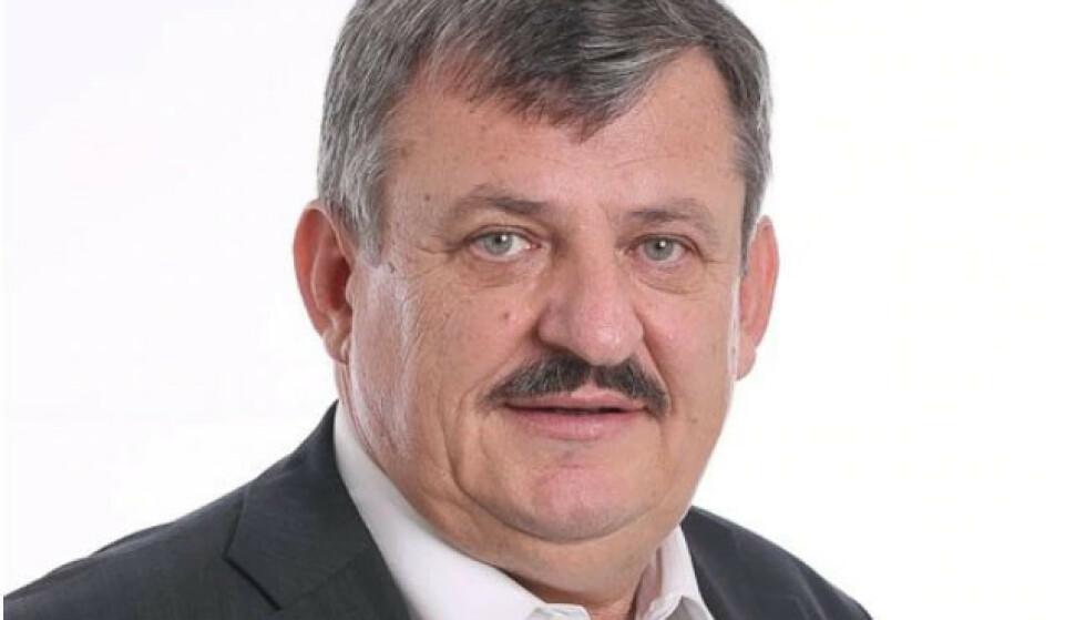 I SORG: Den slovakiske politikeren Anton Hrnko (64). Foto: Slovakias nasjonale parti