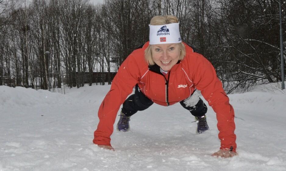 IKKE REDD FOR Å TRENE: - Selv om hjertestansen i 2016 skremte meg og de nærmeste, er jeg ikke redd for å trene i dag, sier Sølvi Amundsen Aas. Foto: Kristin Roset