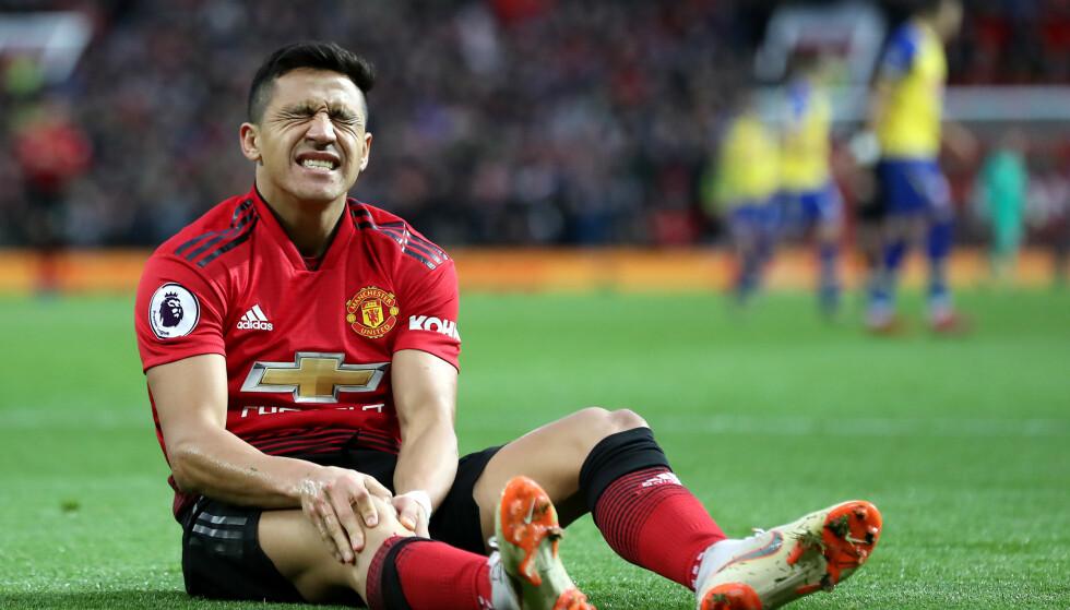 HAR DET TØFT I UNITED: Alexis Sanchez har ikke fått det til i Manchester og nå skal han bort, ifølge engelske aviser. Foto: NTB Scanpix