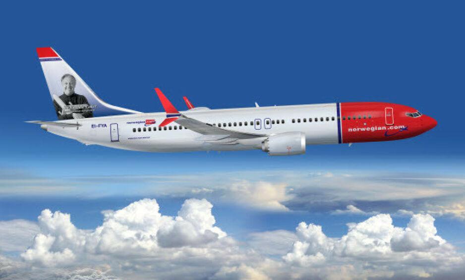 FLYR FORTSATT: Norwegian vil ikke sette Boeing 737 MAX 8-flyene på bakken. Foto: Norwegian