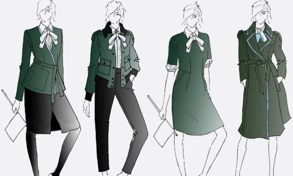 NYE UNIFORMER: De ansatte NSB, som snart heter Vy, får nye uniformer. Kari Kaski i SV mener uniformene vitner om utdaterte kjønnsroller. Foto: NSB