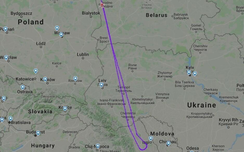 Foto: Flightradar24/skjermdump