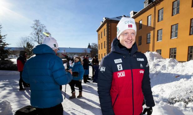 EN ENER I SPORET: Johannes Thingnes Bø er stort sett alltid raskest i sporet. Foto: Lise Åserud / NTB scanpix