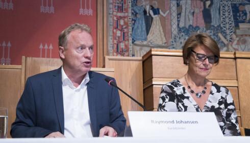 VIL BOSETTE I GRORUDDALEN: Byrådsleder Raymond Johansen (Ap) og byråd med ansvar for integrering Tone Tellevik Dahl (Ap).