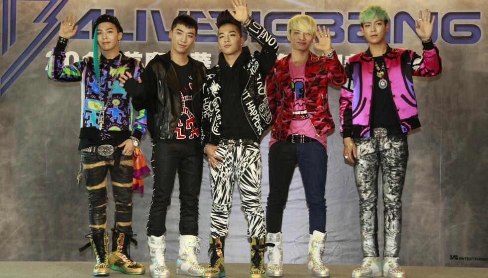 BIG BANG: K-pop-gruppa Big Bang under et pressetreff i Taiwan i 2012. Seungri er andre fra venstre. Foto: Wally Santana / AP