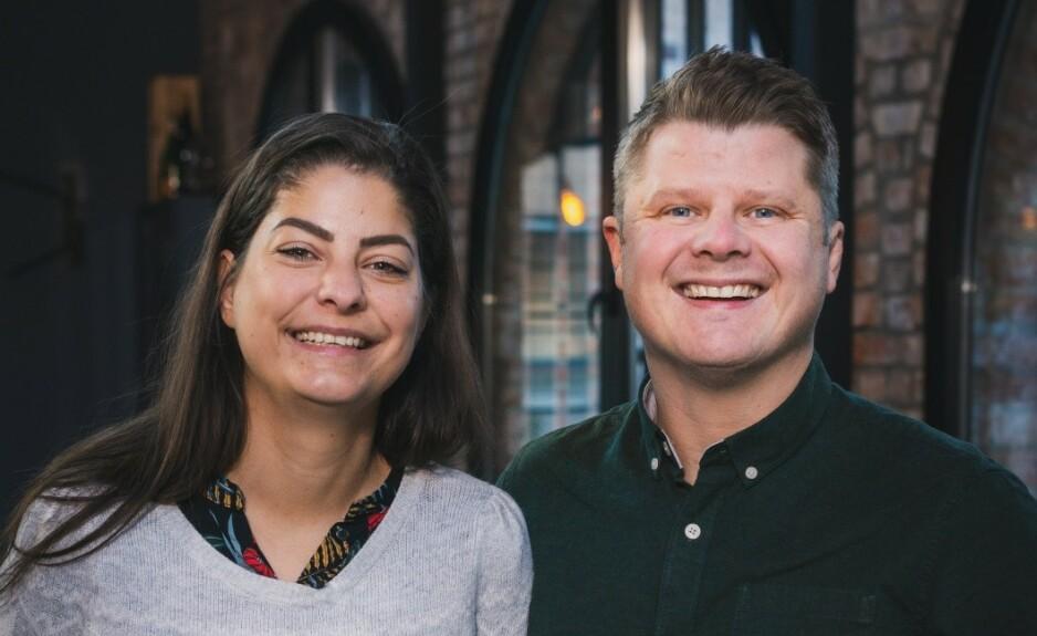 KNEP: Joakim Aleksander Mäkiperä og Sara Jansson som ble gift i «Gift ved første blikk» har lært seg teknikker for å forstå hverandre bedre. Foto: TVNorge