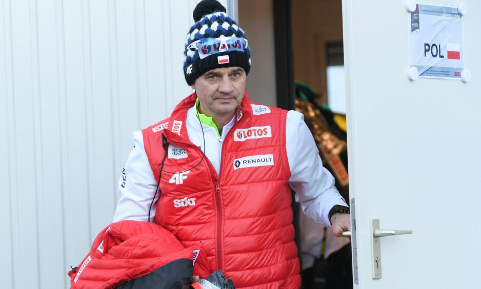 OPPGITT: Stefan Horngacher måtte jage vekk berusede personer fra de polske hopperne i Holmenkollen. Foto: NTB scanpix