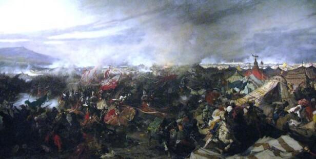 SKJELLSETTENDE: Slaget ved Wien i 1683 minnes med glede av både Tarrant og Anders Behring Breivik. Maleri: Józef Brandt / Wikimedia Commons