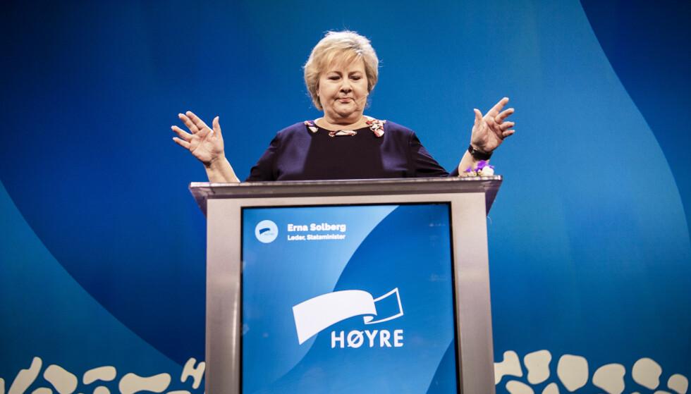 NYE IDEER?: Høyres prinsipprogram slår fast at partiet mener økt ulikhet truer den sosiale bærekraften. Hva da hvis deres egen politikk har skapt mer ulikhet? Foto: Lars Eivind Bones/ DAGBLADET
