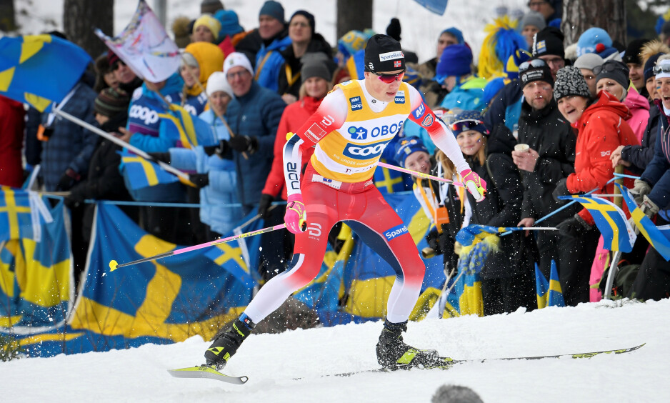 IMPONERTE: Johannes Høsflot Klæbo seiret i Falun. Foto: Ulf Palm/TT News Agency/via REUTERS