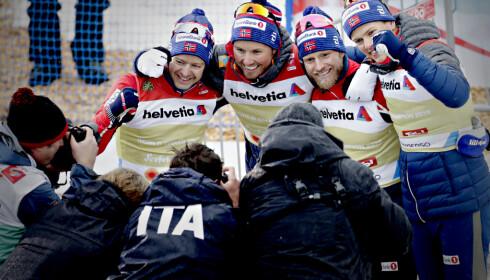 SEKS AV SEKS: De norske langrennsherrene var det laget som presterte aller best og mest over forventet, med seks av seks VM-gull i Seefeld. Foto: Bjørn Langsem / Dagbladet