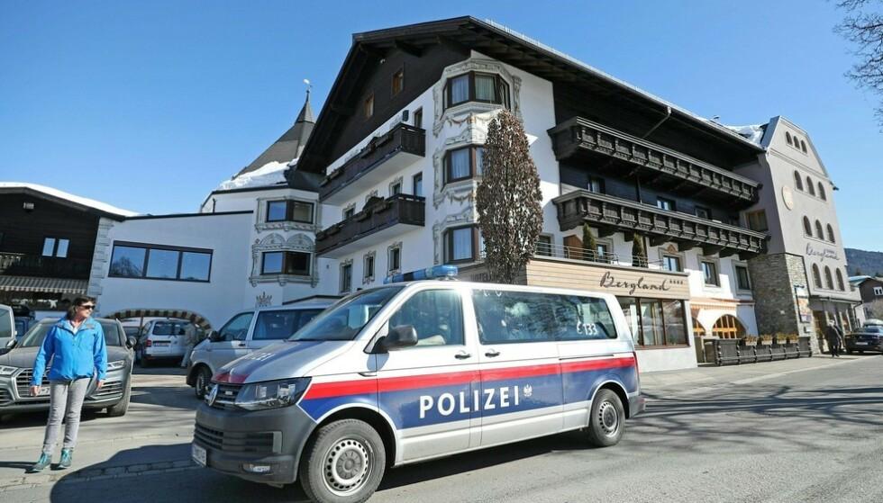 RAZZIA: Det var på Hotel Bergland i Seefeld at det østerrikske politet slo til mot flere utøvere. Foto: NTB Scanpix