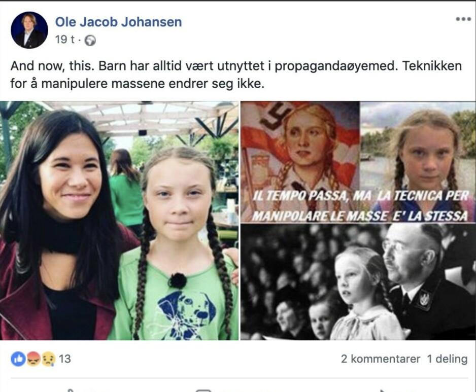 Lokal Frp-topp knyttet ungdommers miljøkamp til nazipropaganda
