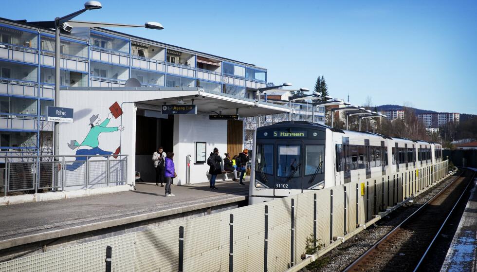 VEITVET: Her skal den siktede 22-åringen ha overfalt en kvinne onsdag kveld. Foto: Henning Lillegård / Dagbladet .