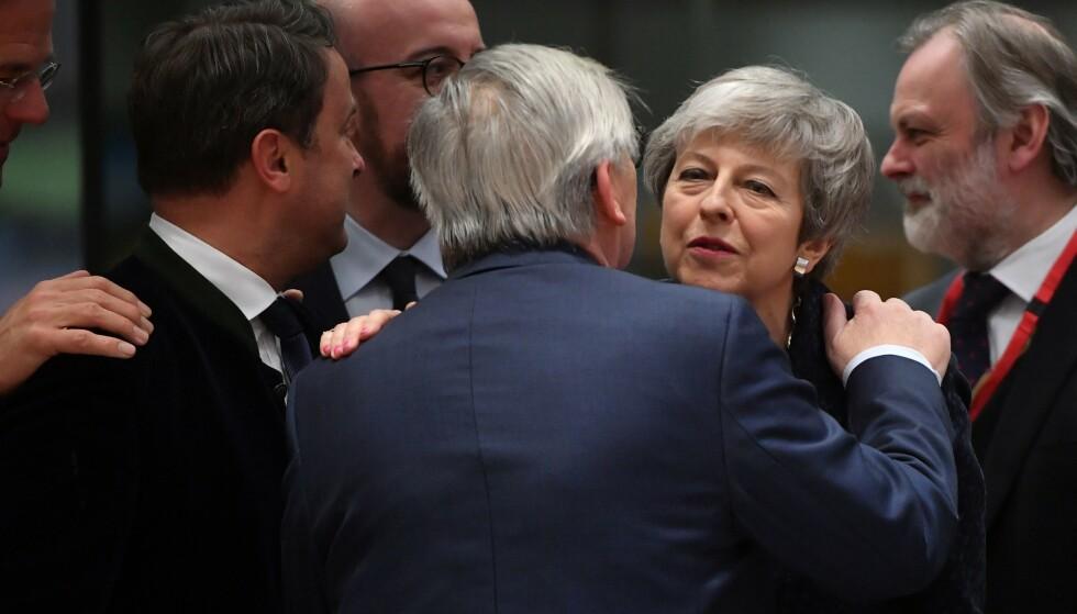 BREXIT: EU går med på å utsette brexit etter lange diskusjoner. Foto: NTB Scanpix