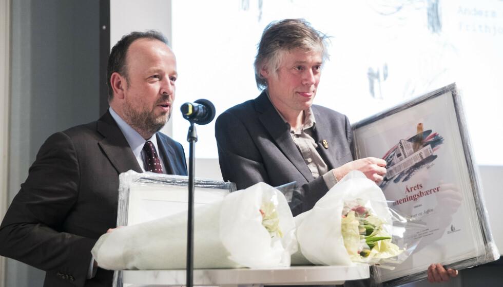 SLUTTET: VG-kommentator Frithjof Jacobsen sluttet i VG fordi han er i ferd med å etablere et forhold til Ap-politiker Jette Christensen. Nå har han fått ny jobb. Foto: Håkon Mosvold Larsen / NTB scanpix
