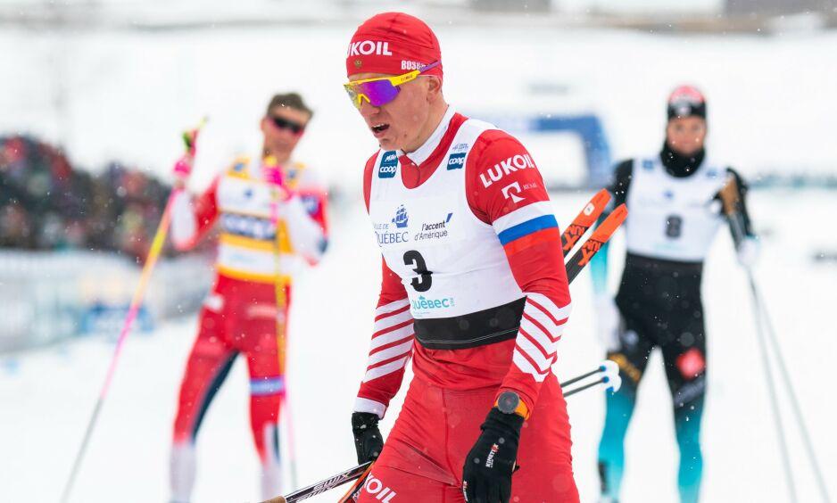 STERK: Aleksandr Bolsjunov gikk en av sine beste fristilssprinter og ble nummer fire. Dermed ligger han foran skjema i kampen mot Johannes Høsflot Klæbo om seieren i minitouren og verdenscupen sammenlagt. Foto: NTB Scanpix