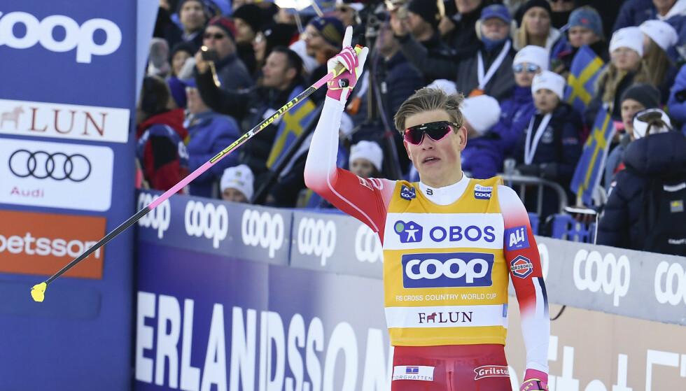 BEST I VERDEN: Johannes Høsflot Klæbo til topps i Canada og totalverdenscupen. Foto: Ulf Palm/TT / NTB scanpix