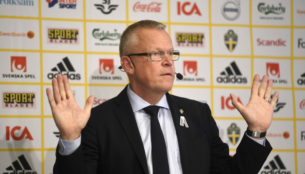 INGEN INTERN URO: Det hevder den svenske landslagssjefen Janne Andersson foran møtet med Norge tirsdag. Foto: NTB/Scanpix