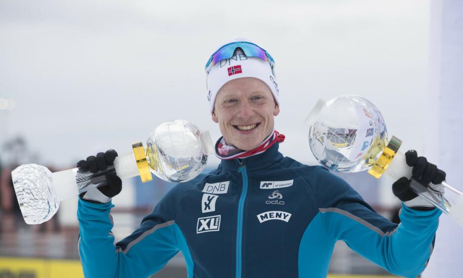 SUKSESS: Johannes Thingnes Bø har vunnet mer enn noen andre har klart denne sesongen. Det gir gode penger til skiskytteren. Foto: NTB Scanpix