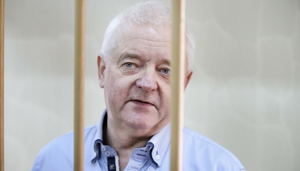 RETTSSAK: Spiontiltalte Frode Berg under et fengslingsmøte i byretten i Moskva i juni i fjor. Mandag kom nyheten om at rettssaken mot nordmannen vil starte 2. april. Foto: Henning Lillegård / Dagbladet