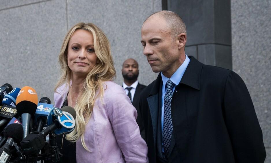 SIKTET: Michael Avenatti er blitt siktet av påtalemyndighetene i New York, men hans tidligere klient Stormy Daniles er ikke sjokkert. Foto: NTB Scanpix