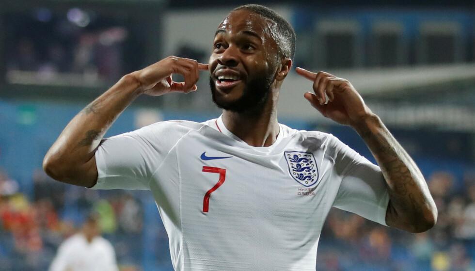 GOD: Raheem Sterling for England. Foto: Reuters/Carl Recine