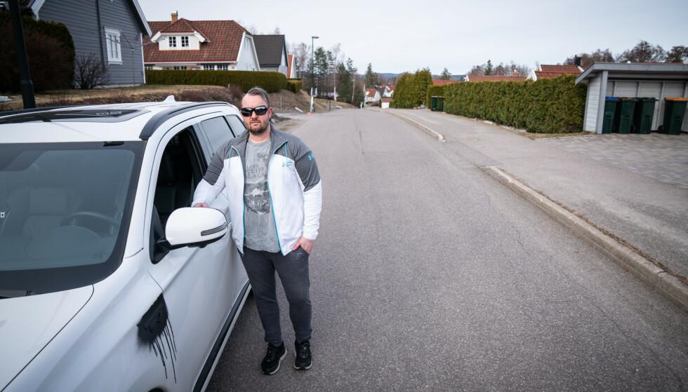 NABO: Marcus Asmyhr bor like ved åstedet. Foto: Øistein Norum Monsen / Dagbladet
