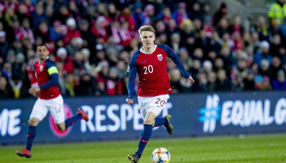 USIKKER FRAMTID: Det er fortsatt lite konkret om Martin Ødegaards framtid. Nå kan Marca ha gitt oss en pekepinn. Foto: Stian Lysberg Solum / NTB scanpix