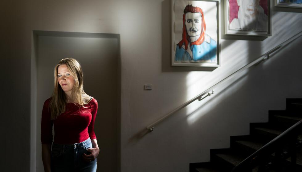 DEBUTANT: Den danske forfatteren Eva Aagaard (28) debuterer med boken «Døtre». Den handler om hvordan psykiske lidelse påvirker alle i en familie. Foto: John T. Pedersen
