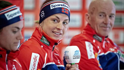 IMTIME SPØRSMÅL: Astrid Uhrenholdt Jacobsen ble grillet til å svare på sensitive opplysninger av Hajo Seppelt under Antidoping Norges seminar. Foto: Bjørn Langsem / Dagbladet