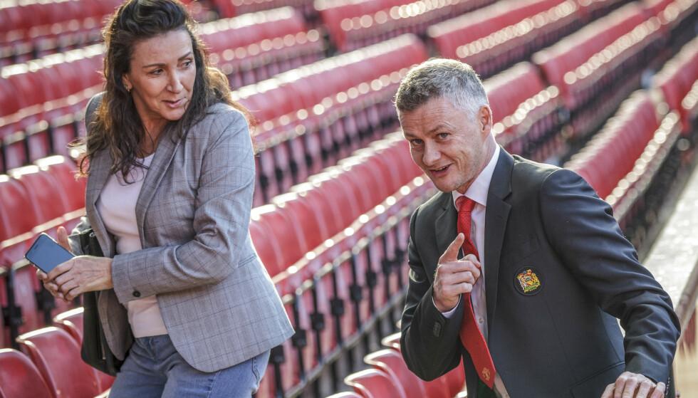 FAST: Ole Gunnar Solskjær møtte pressen på Old Trafford torsdag ettermiddag etter at han har fått managerjobben for Manchester United på fast basis. Foto: Nina E. Rangøy / NTB scanpix