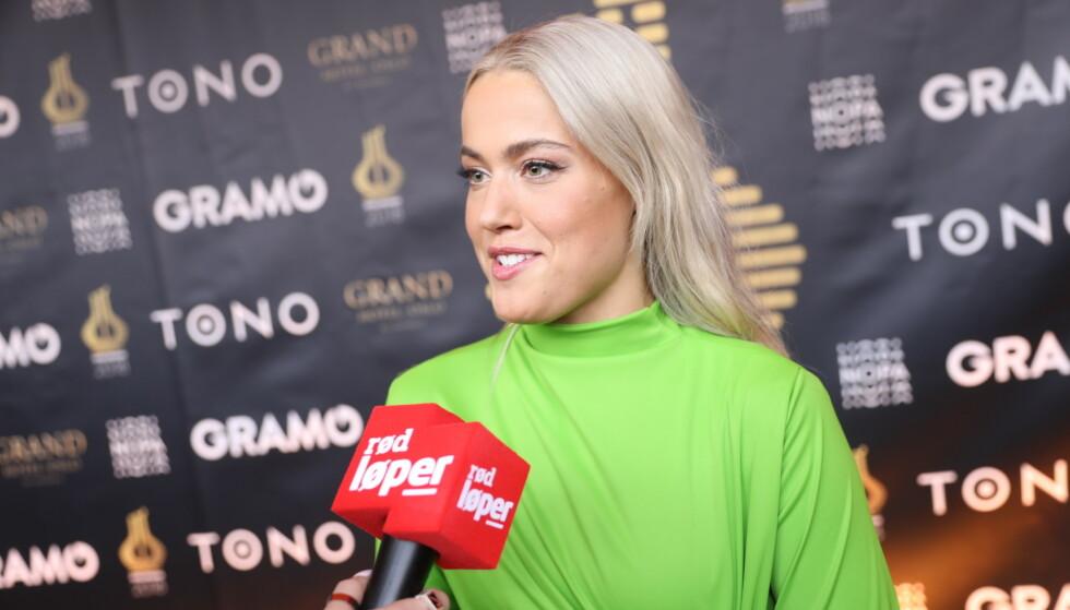 PROGRAMLEDER: Julie Bergan leder Spellemannprisen lørdag kveld. Foto: Christian Roth Christensen / Dagbladet.