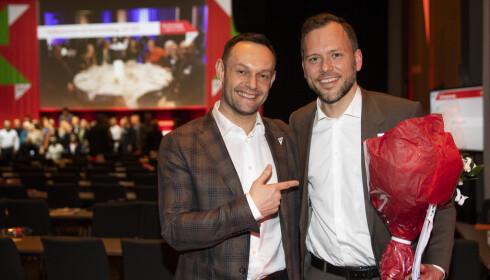 VANT: Torgeir Knag Fylkesnes er ny SV-nestleder. Her sammen med partileder Audun Lysbakken. Berit Roald / NTB scanpix
