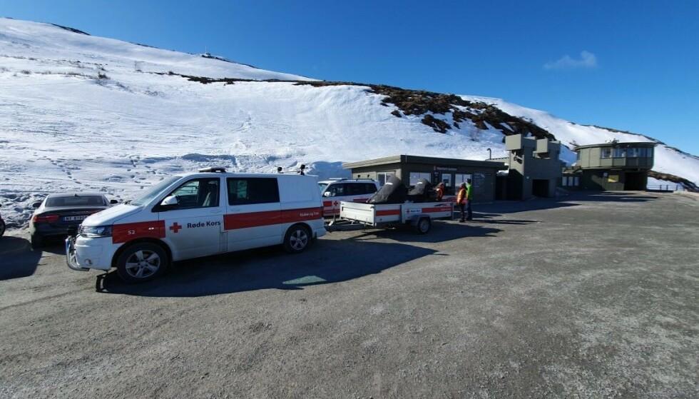 OMKOM: Mannen som var i en skiulykke søndag, døde. Foto: Rjukan og Tinn hjelpekorps